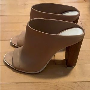 Vince Shoes - Vince tan leather heeled mules